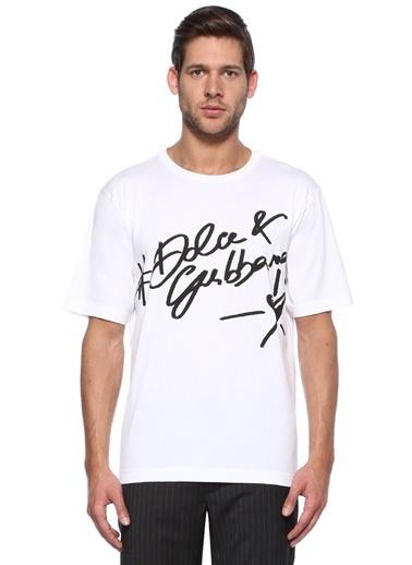 Baskılı Bisiklet Yaka Tişört-Dolce&Gabbana